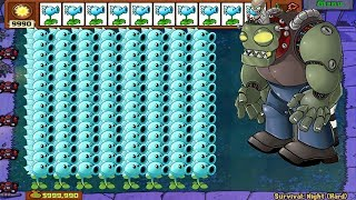 1 Dr. Zomboss vs 999 Snow Pea Hack Plants vs Zombies