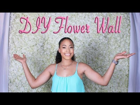 Quick And Easy Flower Wall