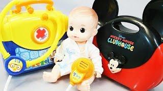 Набор доктора для куклы. Развлекающие и развивающие видео обзоры детских игрушек