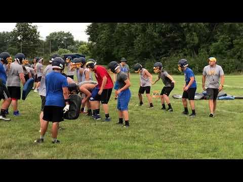 Ida High School's first football practice