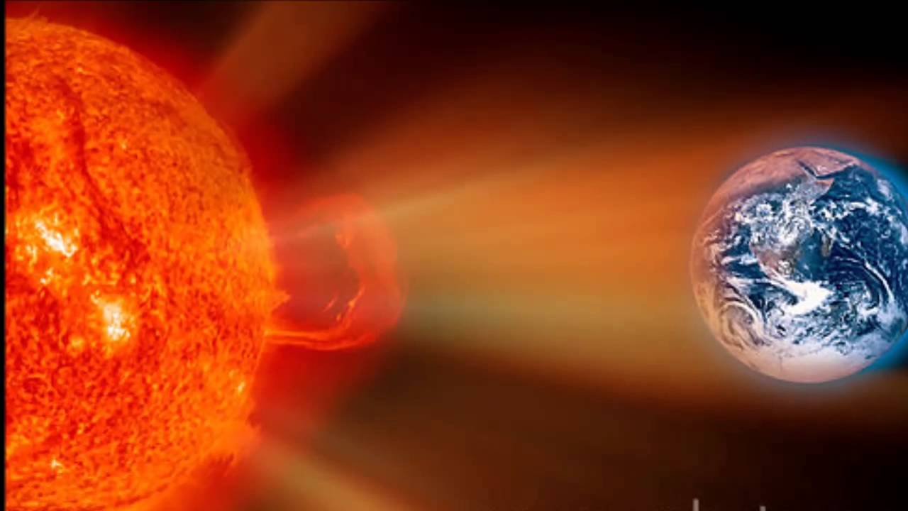 Big solar storm hitting Earth - YouTube