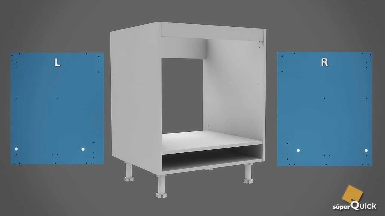 Instrucciones de montaje de bajo horno de superquick youtube Mueble para horno