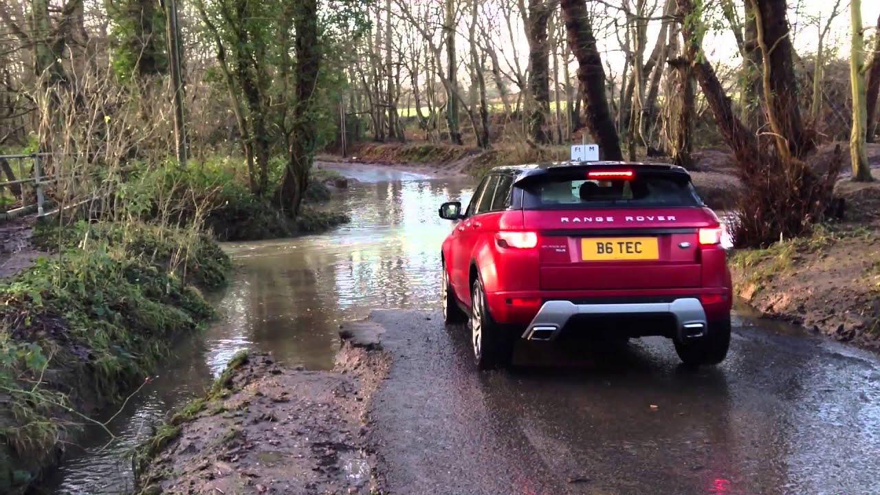 Range Rover Evoque Wading 21/12/2012
