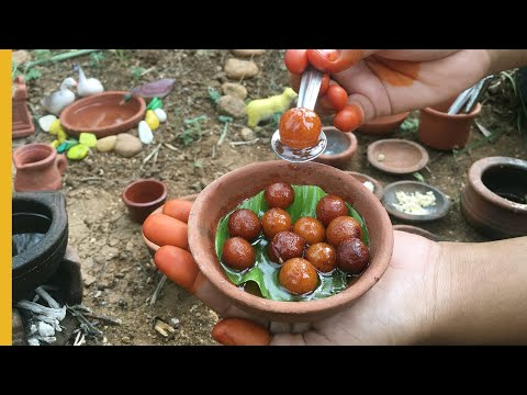E#15 | Miniature Gulab Jamun Recipe | Tiny Sweet Recipe | Miniature Cooking