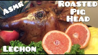 ROASTED PIG HEAD (LECHON) *SAVAGE (ASMR EXTREMELY CRUNCH SOUNDS)