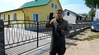 Стальной самодельный забор, своими руками.(ВСЕМ ПРИВЕТ,вот такой забор получился, не судите строго, при наличии дешовай сварки и болгарки,,ну и прокато..., 2015-01-18T15:07:39.000Z)