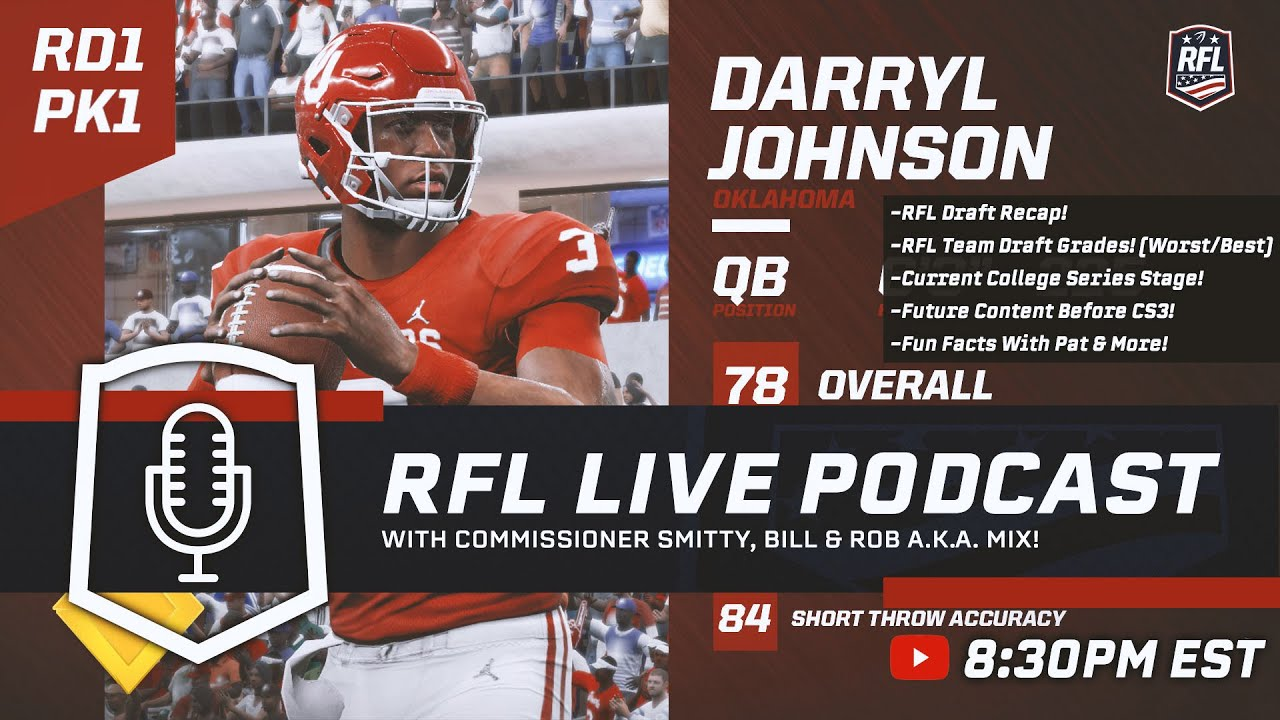 RFL Podcast! Season 7 Draft Recap, Draft Grades & More!
