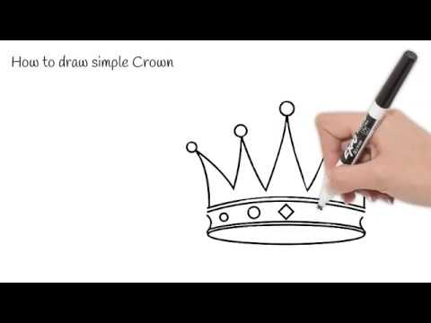How To Draw Simple Crown In 1 Minute - Part 127