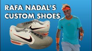 In Depth Look at Rafael Nadal's Custom Tennis Shoes