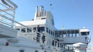 Паром сел на мель в Керченском проливе(Официальный канал информационного агентства