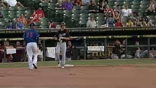 Josh Reddick gets a hit for the River Cats