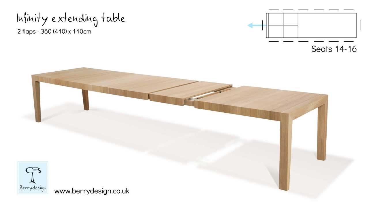 Infinity Extending Dining Table By Berrydesign Youtube
