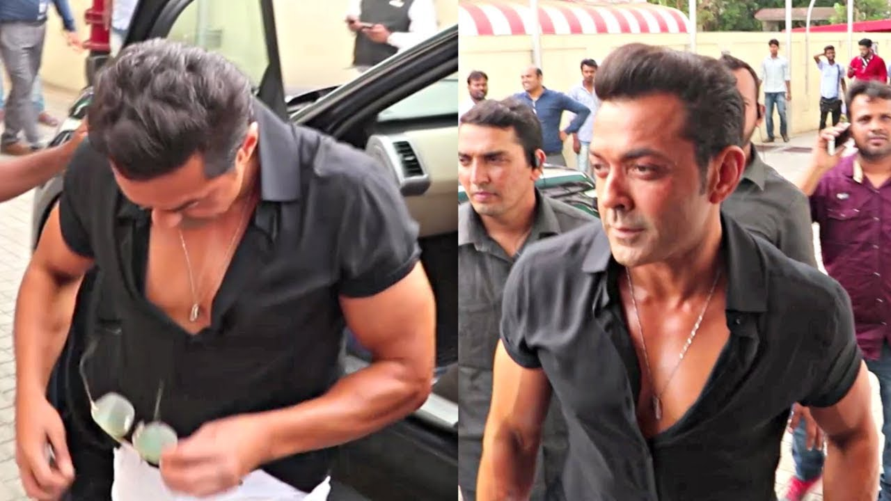Bobby Deol Show Off His Body At Race 3 Trailer Launch