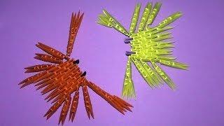 Модульное оригами легкое, краб, мастер класс для начинающих