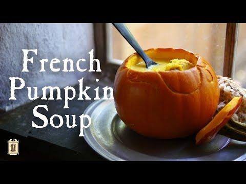 Historic Harvest Soup With Pumpkin Bowl