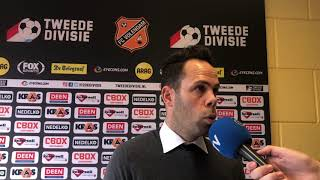 Erik van der Ven na afloop van FC Volendam-FC Den Bosch