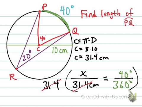 Arc Length Of Circle (geometry)
