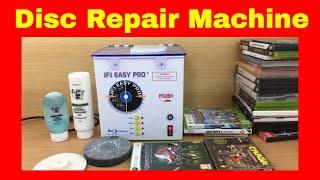 JFJ Easy Pro Disc Repair Machine - How to repair scratched discs...