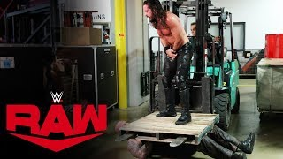 Seth Rollins uses a forklift to pin Erick Rowan: Raw, Oct. 28, 2019