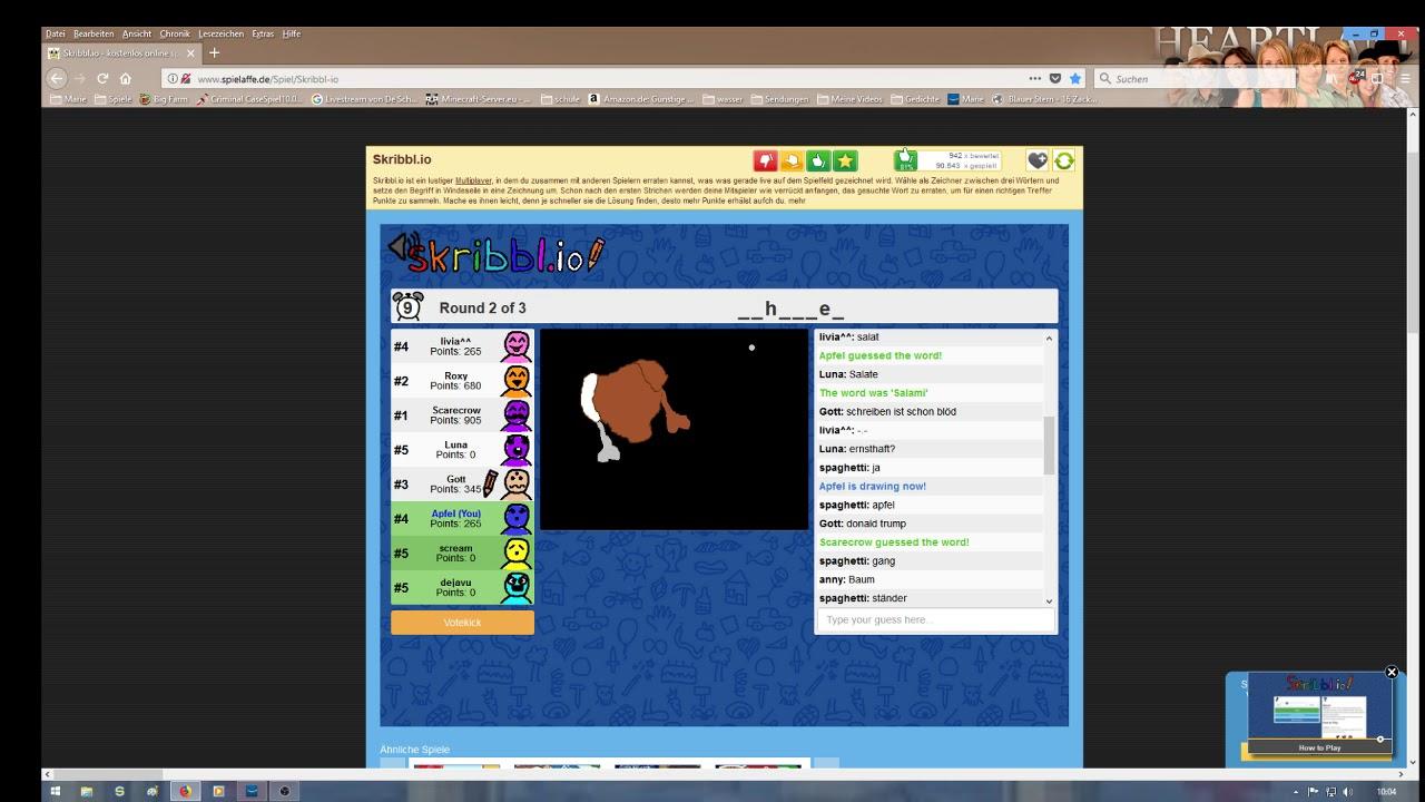 Ich Spiele Skribblio YouTube - Minecraft spiele spielaffe