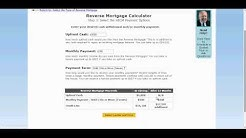 How to use the HECM Reverse Mortgage Calculator