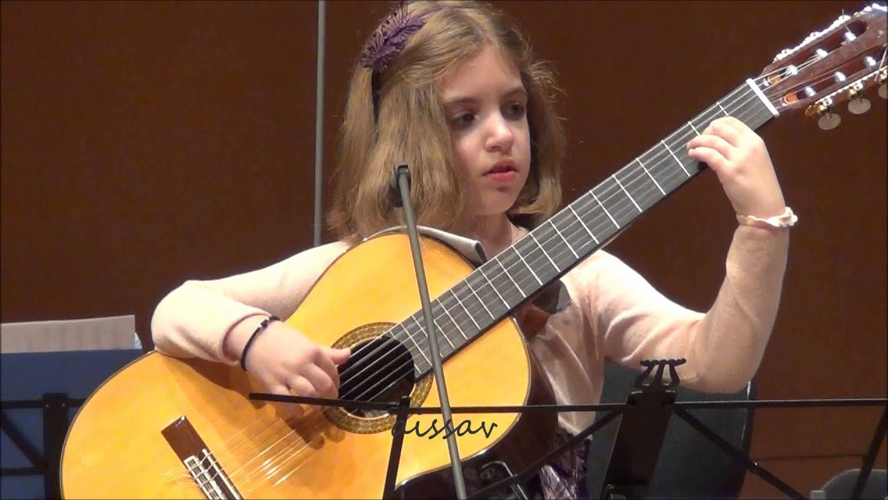 Amazing 7 Year Old Girl Guitarist Konstantina Andritsou Performs