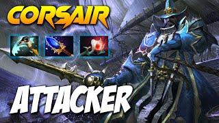 ATTACKER CORSAIR - SEA WOLF - Dota 2 Pro Gameplay [Watch & Learn]