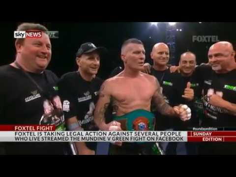 **MUST WATCH** GREEN VS MUNDINE FOXTEL TAKING LEGAL ACTION AGAINST LIVE STREAMERS