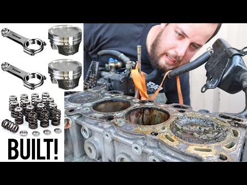 Building my SR20DET with Forged Internals - YouTube