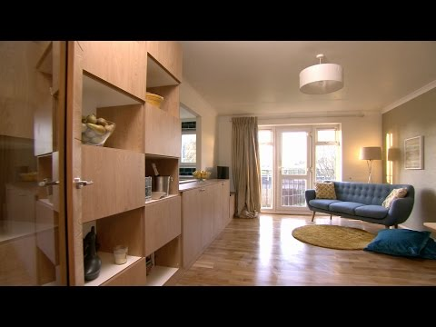 Opening up space in a small flat - The 100k House: Trick of the Trade - Series 2 Episode 1 - BBC Two