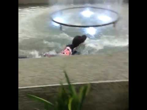 girl jumps into fountain at sooner mall take 2 remix