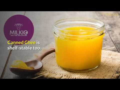 Canned Ghee: friendly storage container
