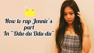 "Gambar cover How to rap Jennie's part in ""Ddu-du Ddu-du"" (With easy lyrics)"
