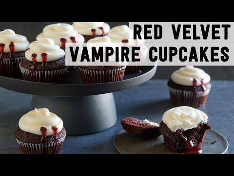 Red Velvet Vampire Cupcakes | Food Network