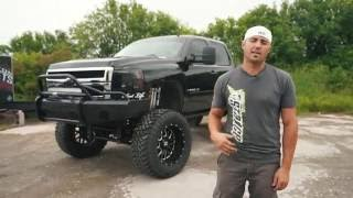 "Spotlight - 2007.5 Chevy 2500 HD Duramax with 10"" Lift, 22x12's, 40's"
