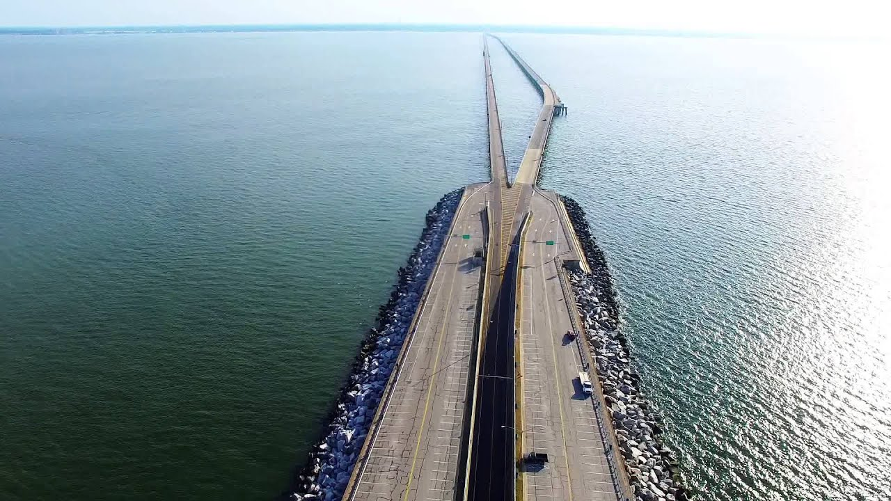 chesapeake bay bridge tunnel virgina beach drone phantom 3 osmo