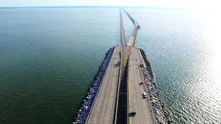Chesapeake Bay Bridge Tunnel Virgina Beach Drone Phantom 3 & OSMO
