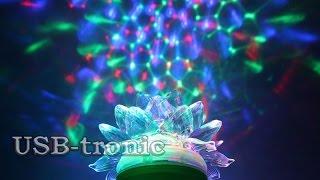 Лампа цветомузыка Цветок | Цветомузыка для дома(Лампа цветомузыка Цветок в магазине: http://usb-tronic.ru/lamps/led-lampochka-cvetomuzyka-2.html Три цвета светодиодов - красный, сини..., 2015-11-21T13:12:19.000Z)