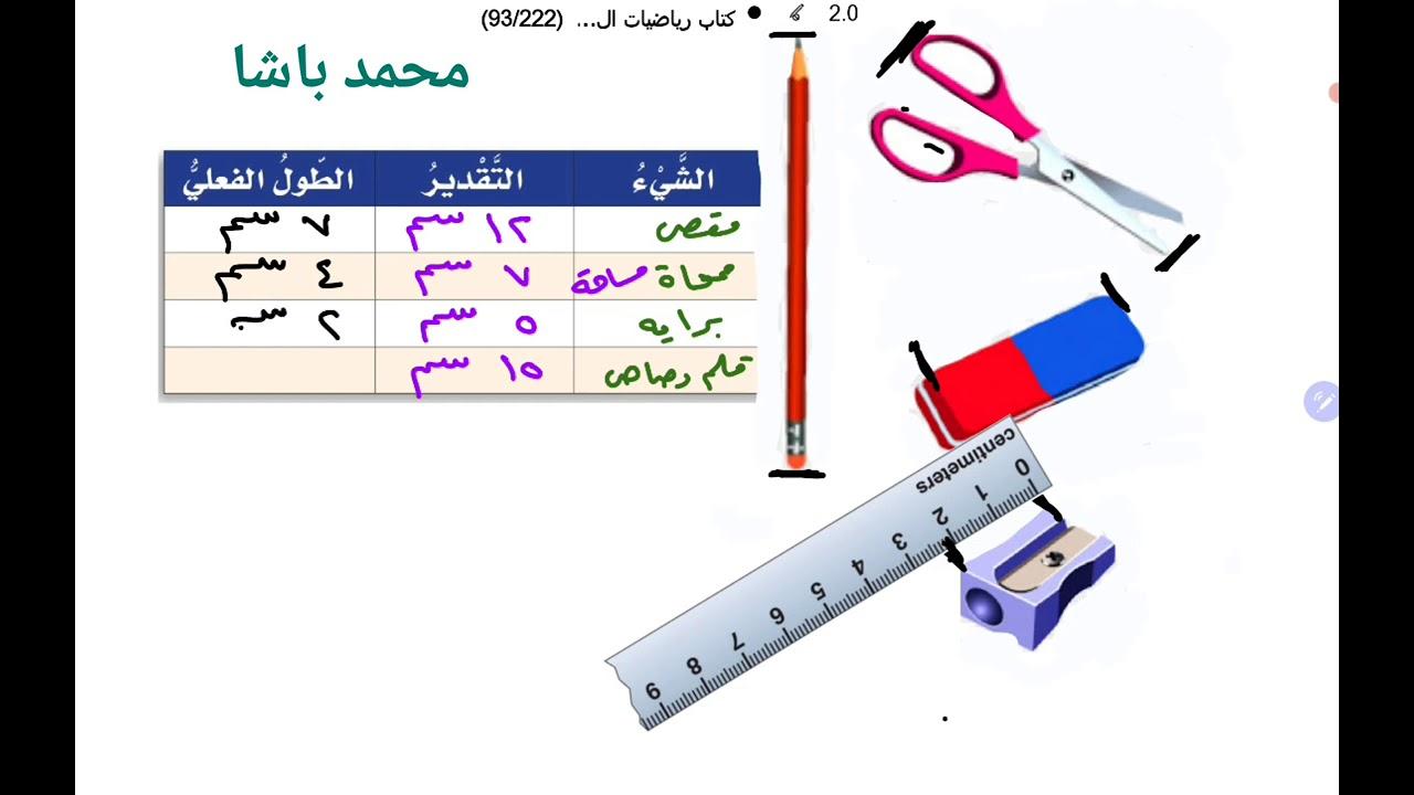 استكشاف وحدات الطول المترية الصف الرابع الابتدائي Youtube