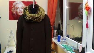 Перешиваем  мужское демисезонное пальто в зимнее  Часть 5