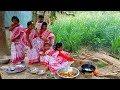 Beautiful Angel Girls Cooking - Wearing New Dress Shari - Nostalgic Picnic On Bengali New Year