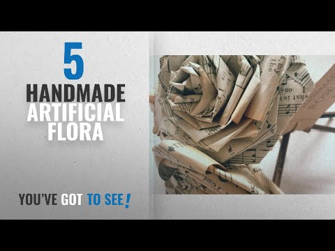 Top 10 Handmade Artificial Flora [2018]: Old Music Sheets Paper Rose Bouquet Vintage Shabby Chic