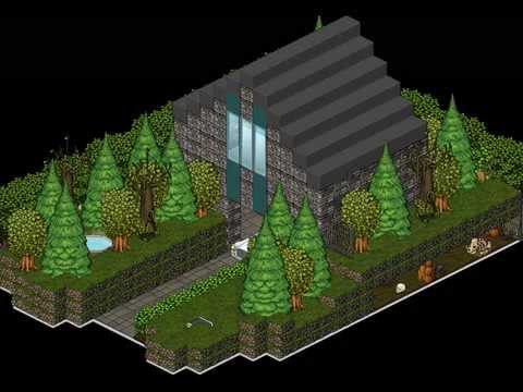 Habbo maison en pleine nature youtube for Moulure exterieur maison