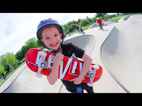 FATHER SON SKATEBOARDING! /New Smaller Board For Kids!