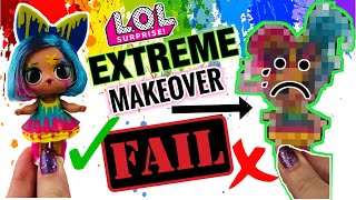 EPIC FAIL! We TRIED to BLEACH SPLATTERS HAIR! LOL SURPRISE HAIR GOALS EXTREME MAKEOVER FAIL! DIY
