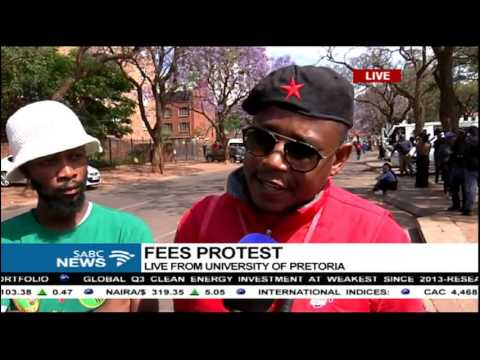 Protests continue at the University of Pretoria: Sipho Stuurman