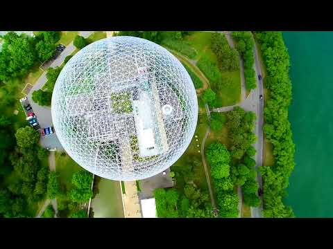 Flying Over Parc Jean Drapeau (Montreal)