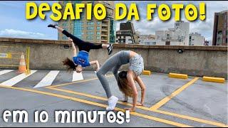 DESAFIO DA FOTO EM 10 MINUTOS NO SHOPPING ! DANÇA E SLIMES ! 10 MINUTE PHOTO CHALLENGE NO BRASIL !