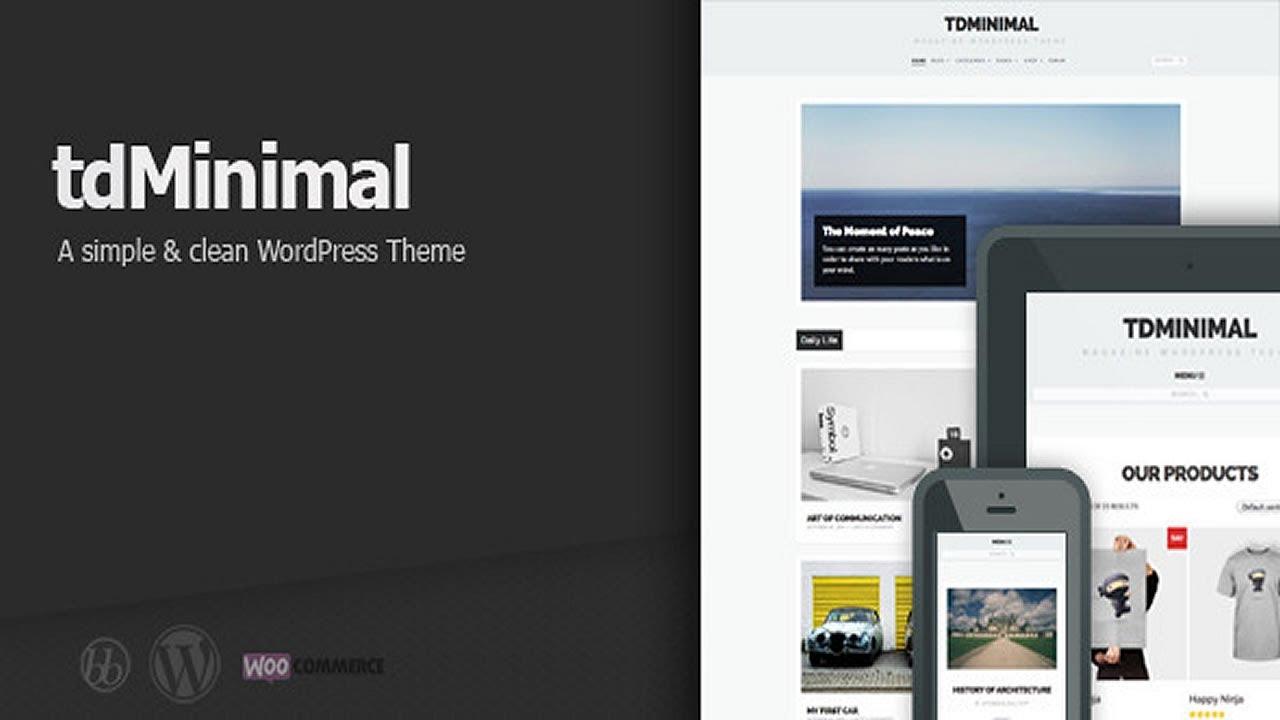 tdMinimal - Responsive WordPress Theme - YouTube