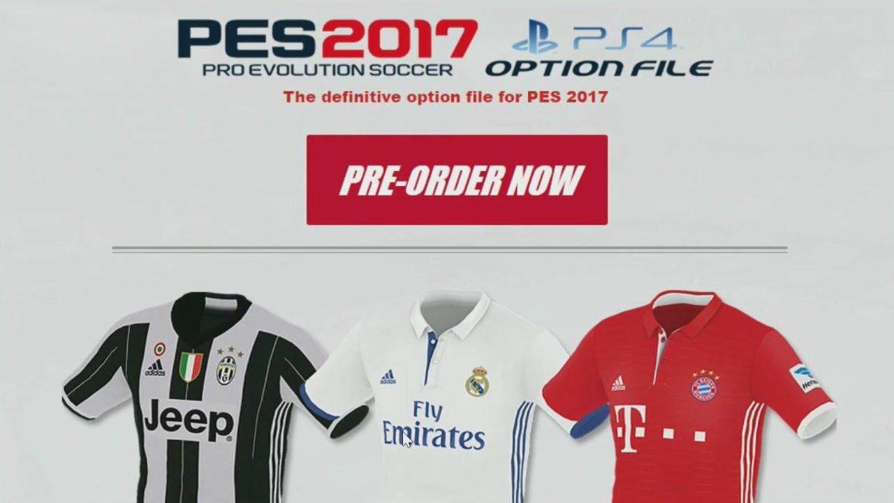 PES 2017 - PS4 Option File (PesUniverse) Free Download Video